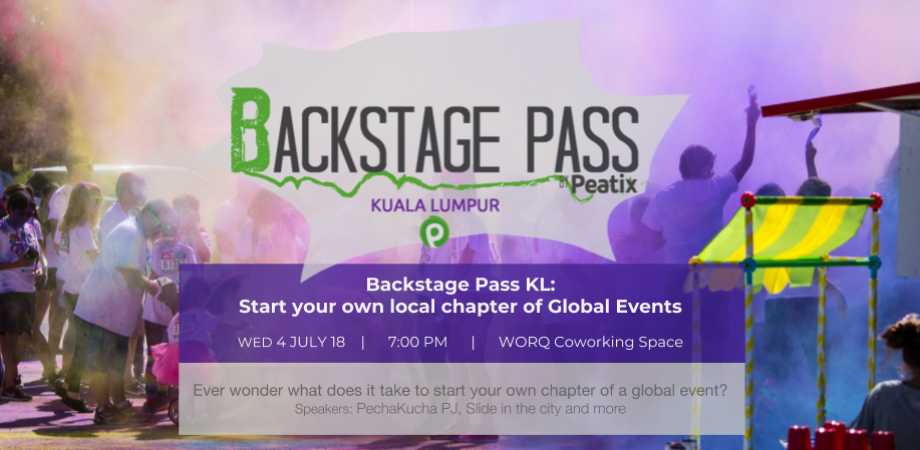 Backstage Pass KL: Start your own local chapter of Global Events