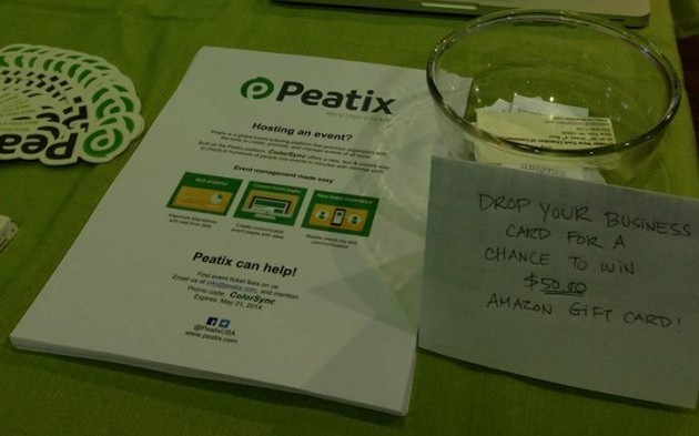 Announcing the winner of the prestigious Peatix Amazon Gift Card Award from NY TechDay 2014!